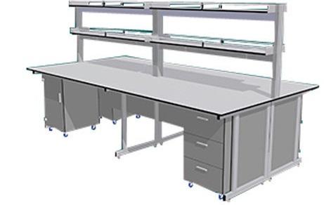 Bàn thí nghiệm trung tâm CLF-1140 hai hộc tủ chắc chắn.