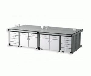 Bàn thí nghiệm trung tâm CLF-1140F 6 hộc tủ tiện lợi.