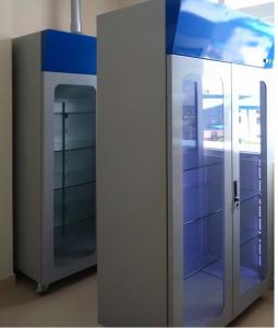 Tủ đựng hóa chất có khử mùi dùng cho phòng thí nghiệm